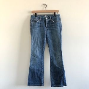 7 For All Manking 'A' Pocket Flare Jean 27